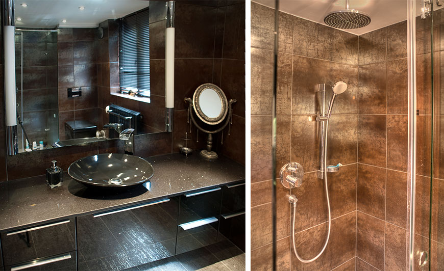 Elegant bathroom and shower